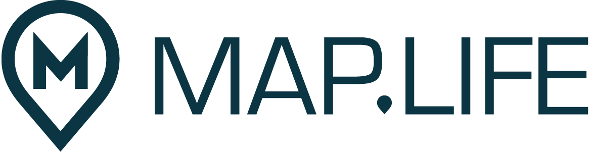 Map.Life logo dark